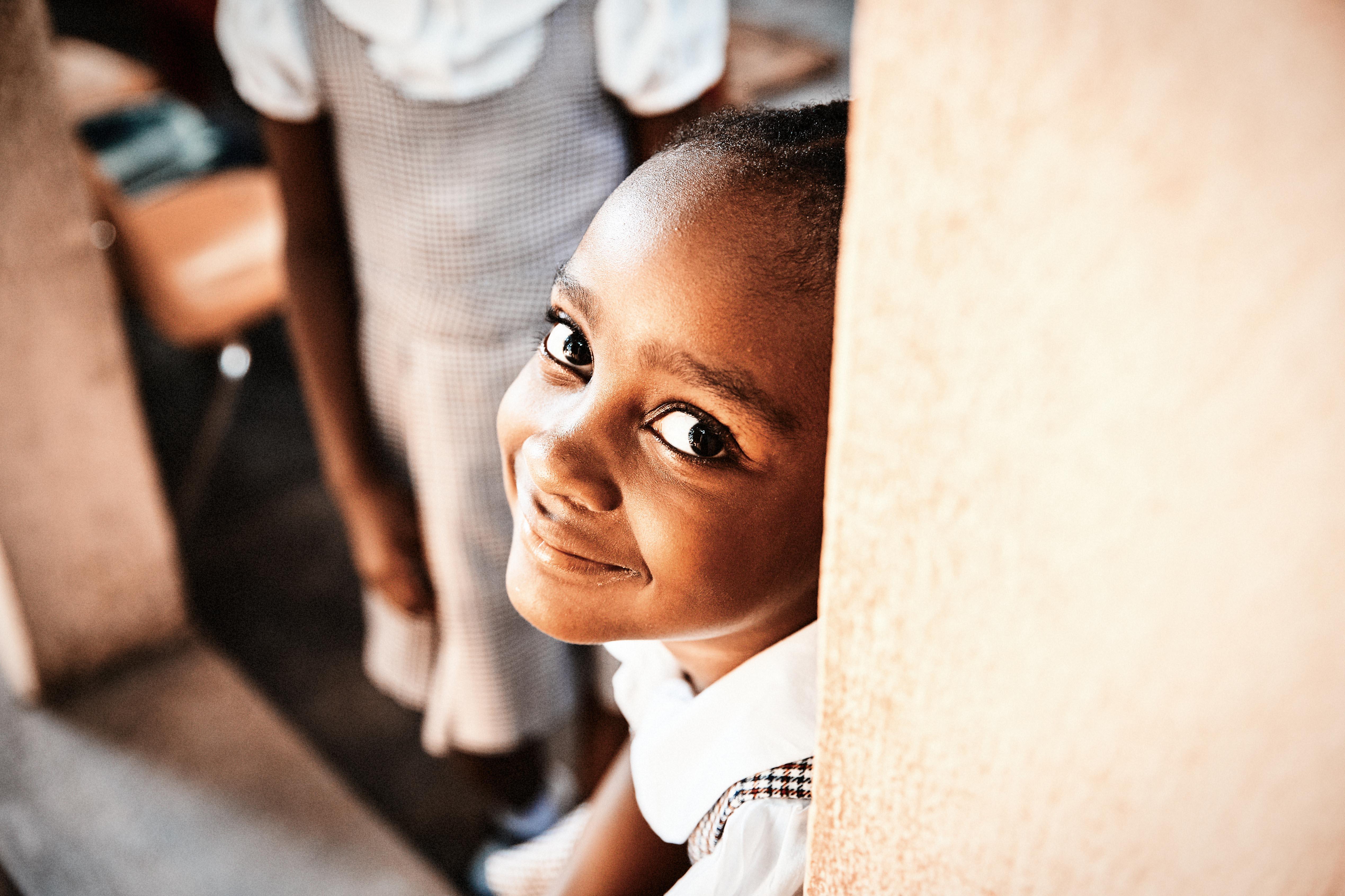 Schulmädchen, Haiti